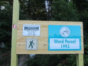 Ward Parcel trail sign